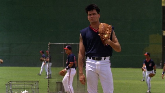 Major league charlie sheen haircut
